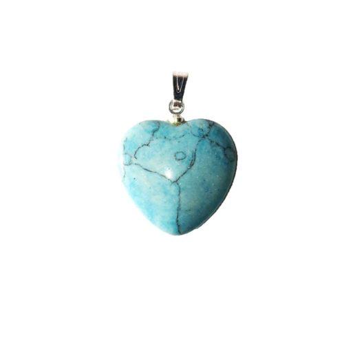 pendentif turquoise petit coeur