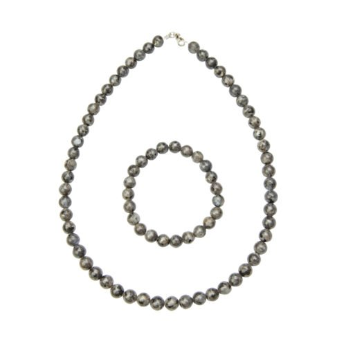 Labradorite Gift Set with Inclusions - 8 mm Bead