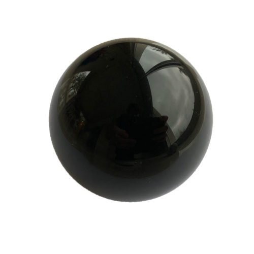 black obsidian bead