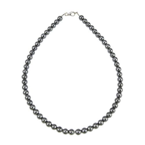 Haematite Necklace - 8 mm Bead