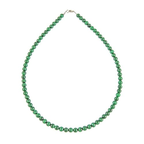 Malachite Necklace - 6 mm Bead