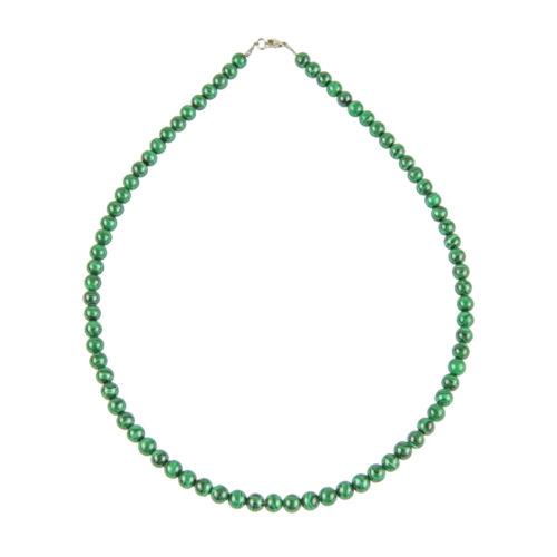 Malachite Necklace - 6 mm Bead
