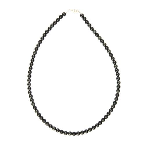 Black Obsidian Necklace - 6 mm Bead