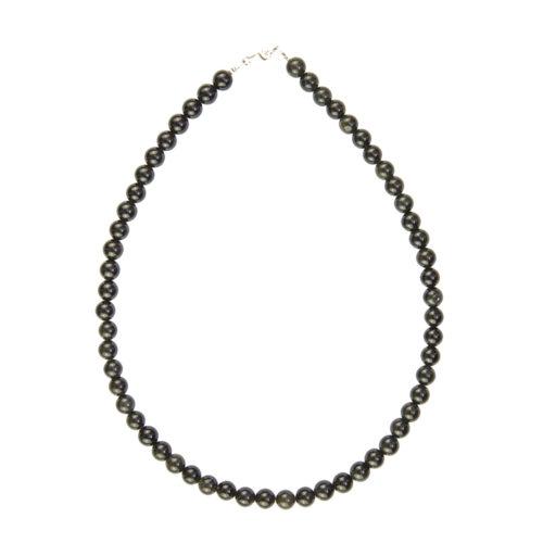 Black Obsidian Necklace - 8 mm Bead