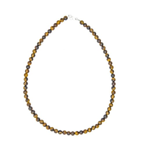 Tiger's Eye Necklace - 6 mm Bead