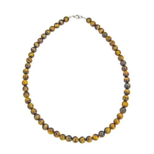 Tiger's Eye Necklace - 8 mm Bead