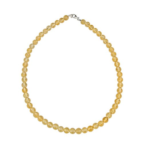 Citrine Necklace - 8 mm Bead