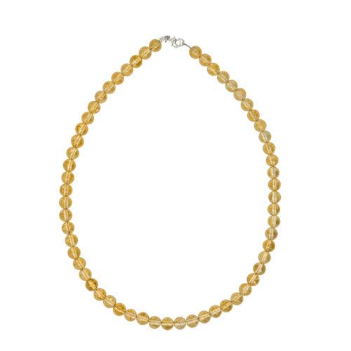 Citrine Necklace - 8 mm Bead