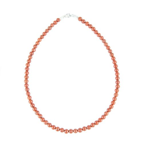 Red Jasper Necklace - 6 mm Bead
