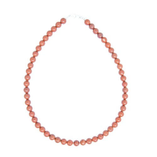 Red Jasper Necklace - 8 mm Bead