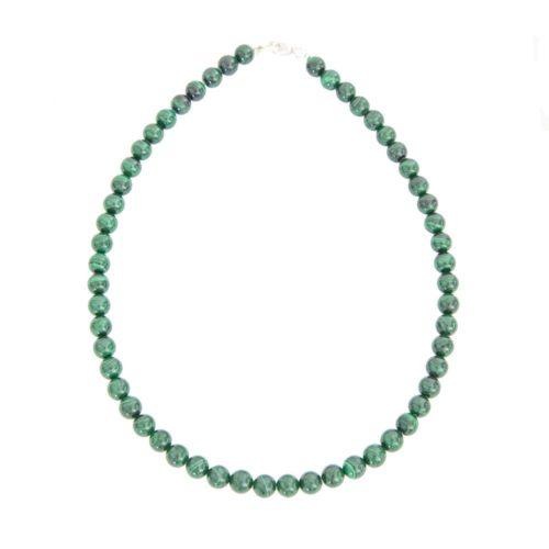 Malachite Necklace - 8 mm Bead
