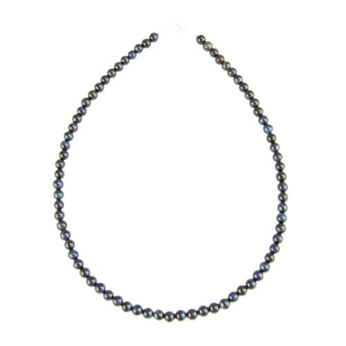 Falcon's Eye Necklace - 6 mm Bead