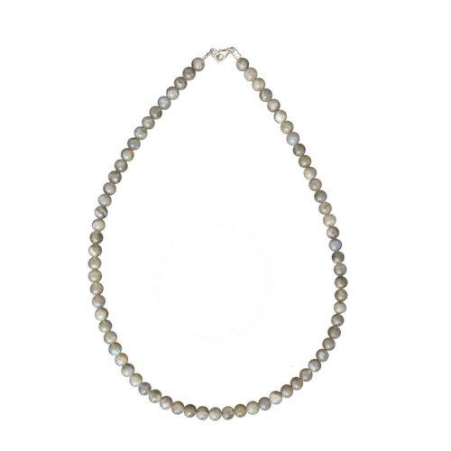 Labradorite Necklace - 6 mm Bead
