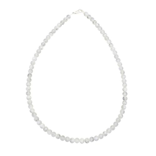 Moonstone Necklace - 6 mm Bead