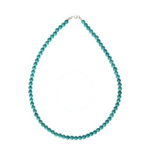 Turquoise Necklace - 6 mm Bead