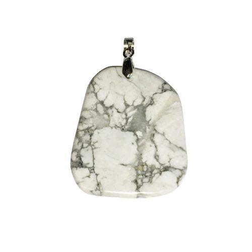 pendentif howlite pierre plate