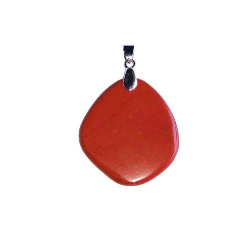 Red Jasper Pendant - Flat Stone