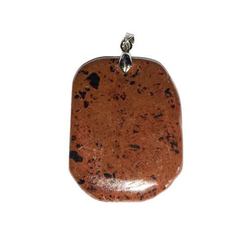 Mahogany Obsidian Pendant - Flat Stone