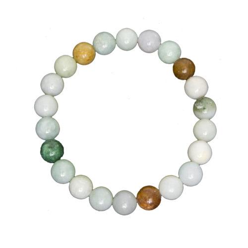 bracelet jade vert pierres boules 8mm