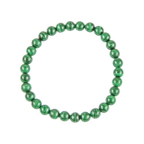 Malachite Bracelet - 6 mm Bead