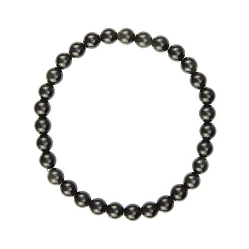 Black Obsidian Bracelet - 6 mm Bead