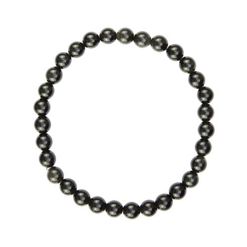 Black Obsidian Bracelet - 6 mm Bead