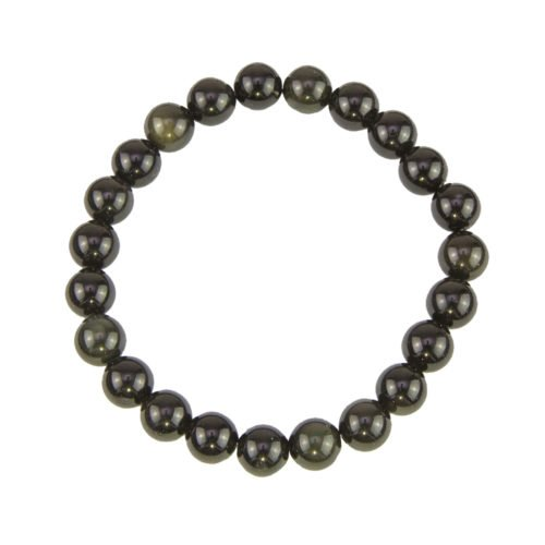 Black Obsidian Bracelet - 8 mm Bead