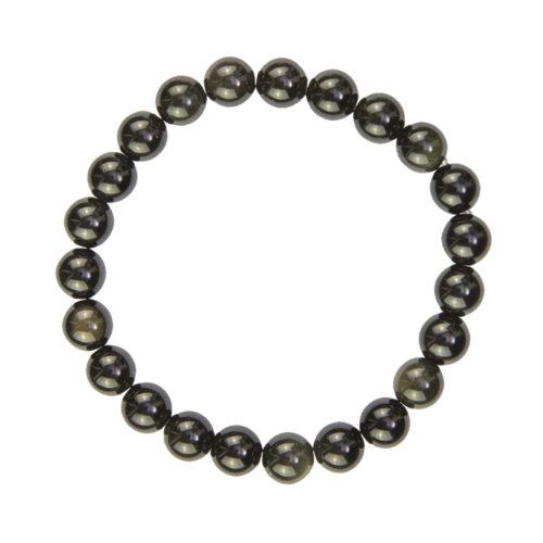 Black Obsidian Bracelet - 8 mm Bead