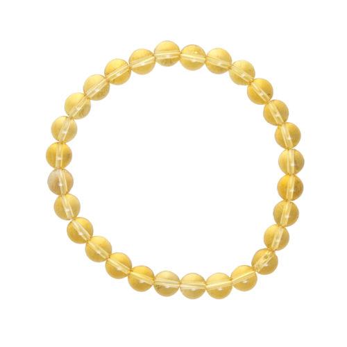 Citrine Bracelet - 6 mm Bead