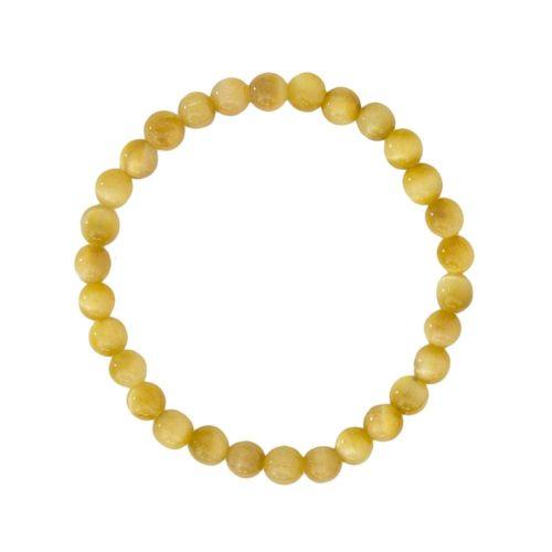 Golden Tiger's Eye Bracelet - 6 mm Bead