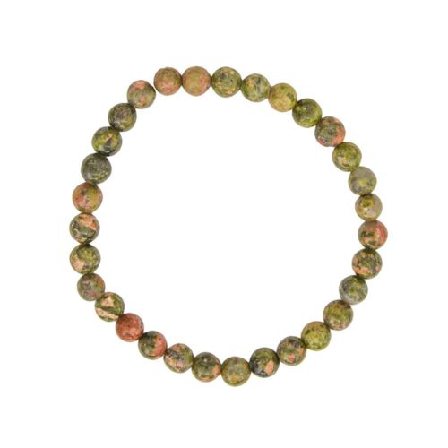 Unakite Bracelet - 6 mm Bead