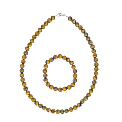 Tiger's Eye Gift Set - 8 mm Bead