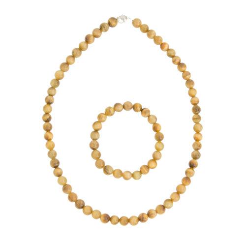 Golden Tiger's Eye Gift Set - 8 mm Bead