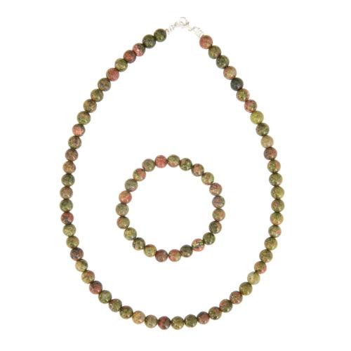 Unakite Gift Set - 8 mm Bead