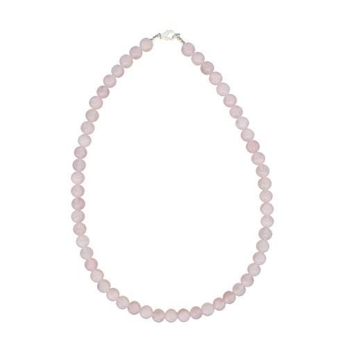 Rose Quartz Necklace - 8 mm Bead