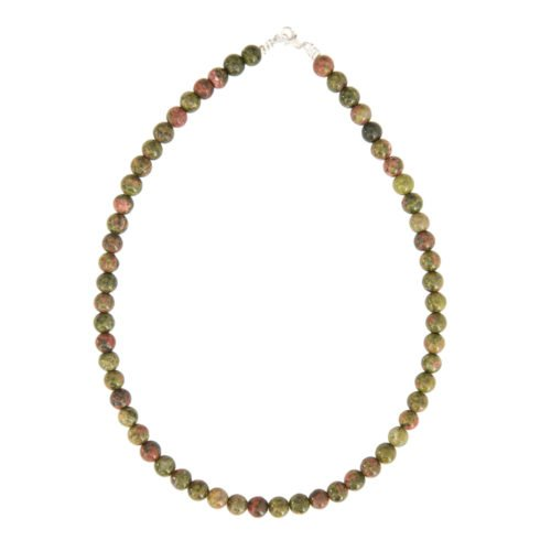 Unakite Necklace - 8 mm Bead