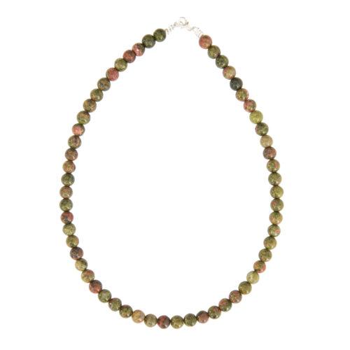Unakite Necklace - 8 mm Bead