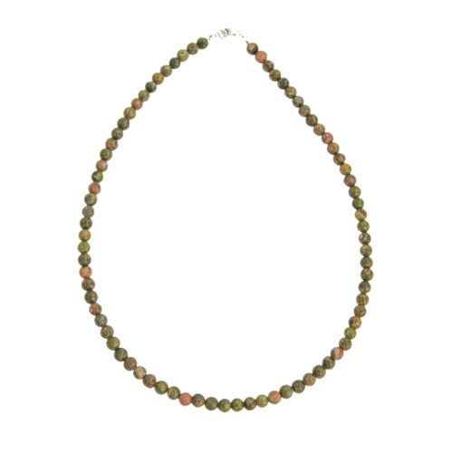 Unakite Necklace - 6 mm Bead