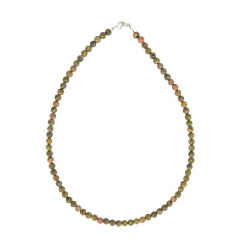 Unakite Necklace - 6 mm Bead