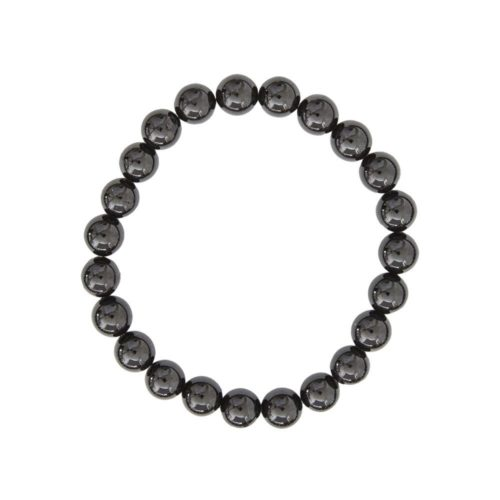 Black Agate Bracelet - 8 mm Bead