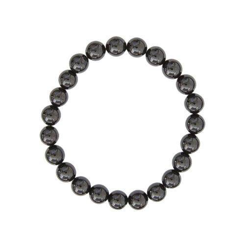 Black Agate Bracelet - 8 mm Bead