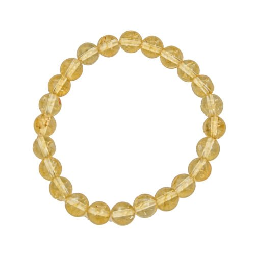bracelet citrine pierres boules 8mm