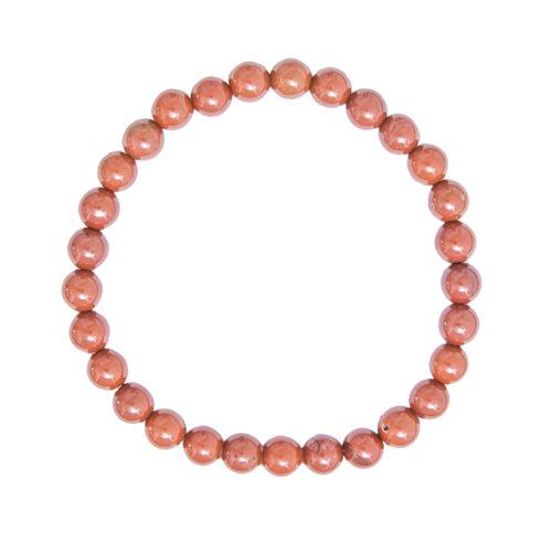 Red Jasper Bracelet - 6 mm Bead