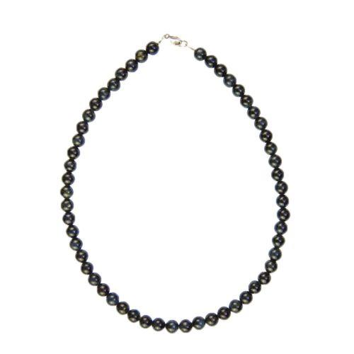 Falcon's Eye Necklace - 8 mm Bead
