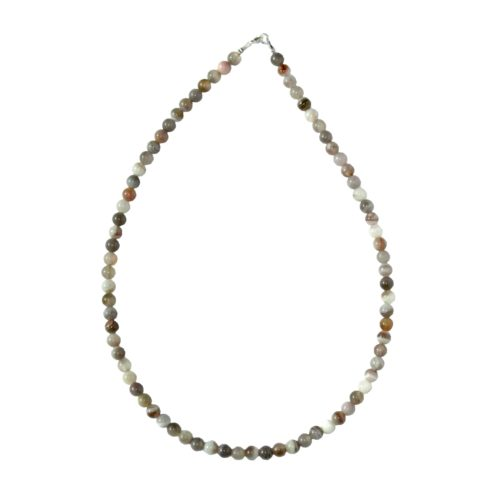 Botswana Agate Necklace - 6 mm Bead
