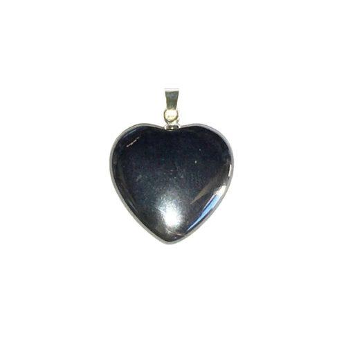 Haematite Pendant - Small Heart
