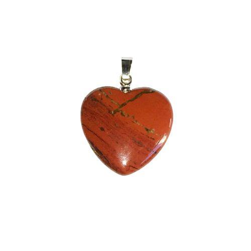 pendentif jaspe rouge petit coeur
