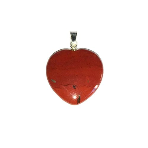 Red Jasper Pendant - Small Heart