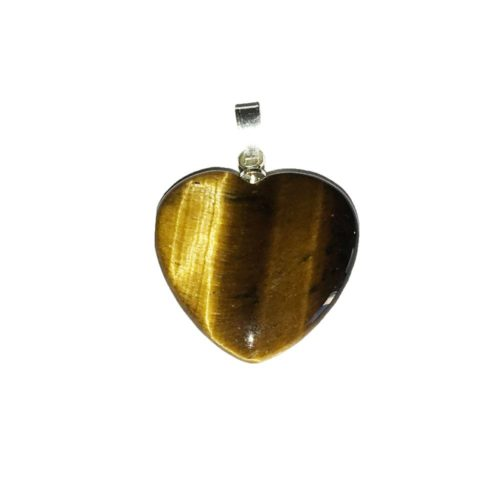 Tiger's Eye Pendant - Small Heart