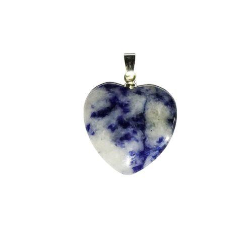 Sodalite Pendant - Small Heart